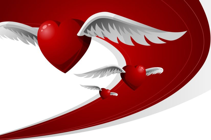 Flying Love Hearts WallPaper HD - http://imashon.com/love/