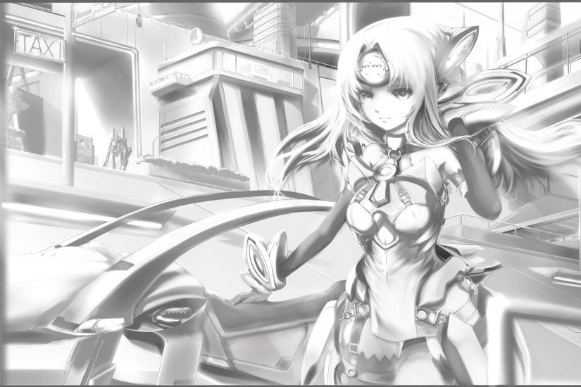 Tags: Anime, Suigin, Xenosaga, KOS-MOS, Anroid, Wallpaper,