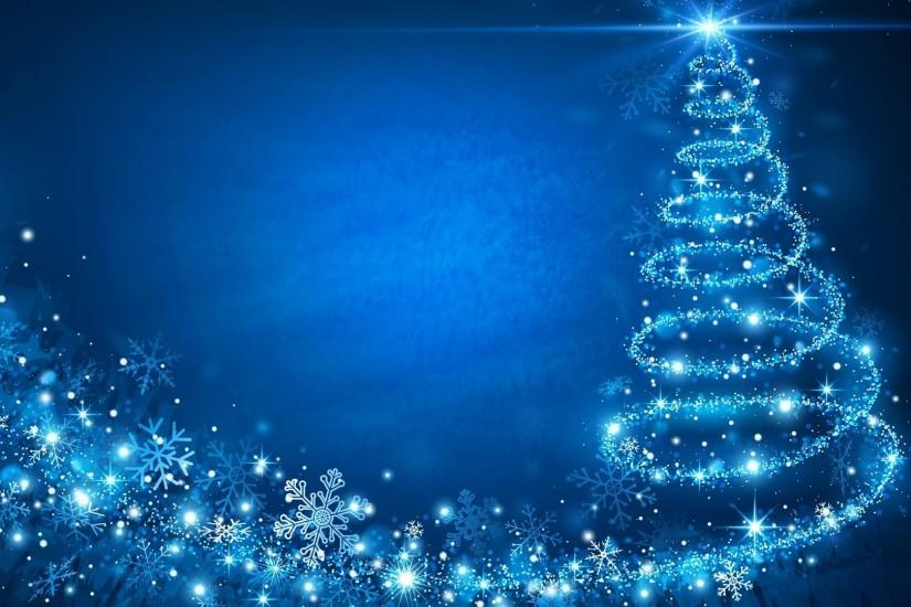 <b>Blue Background</b> With <b>Christmas Tree<