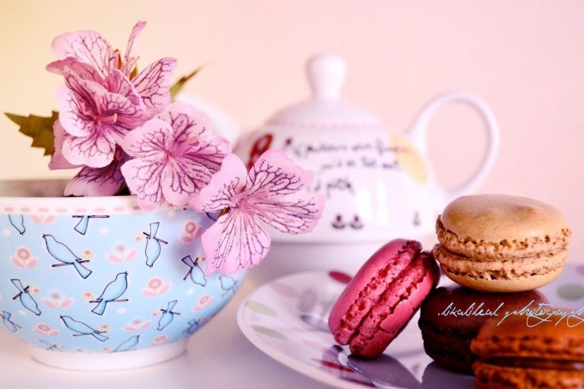 Teapot Tag - Flowers Pot Teapot Time Pink Tea Photography Macrons Flower  Wallpaper Free Download for