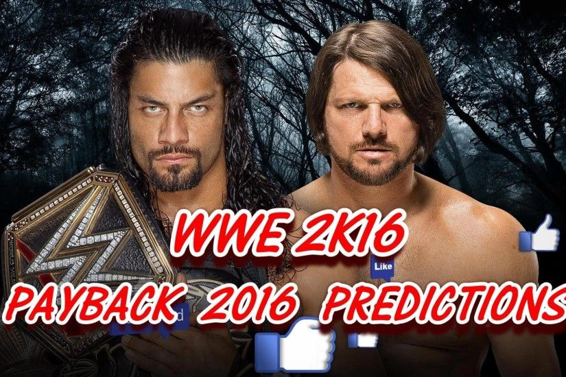 Roman Reigns vs AJ Styles Payback images