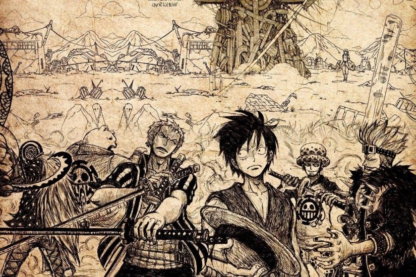 One Piece, Monkey D. Luffy, Roronoa Zoro, Trafalgar Law Wallpapers HD /  Desktop and Mobile Backgrounds