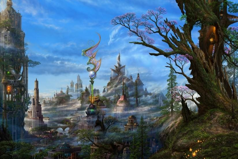 Anime original city cities art artwork fantasy detail wallpaper | 2048x1536  | 687315 | WallpaperUP
