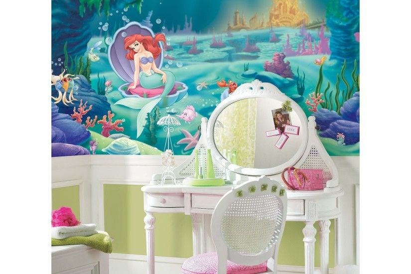 Disney The Little Mermaid Wallpaper Mural, Multicolor