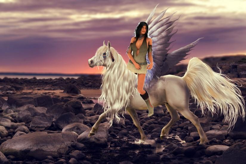 Native Americans images An Native American Girl riding across the Spirit  World on her beautiful Pegasus HD wallpaper and background photos