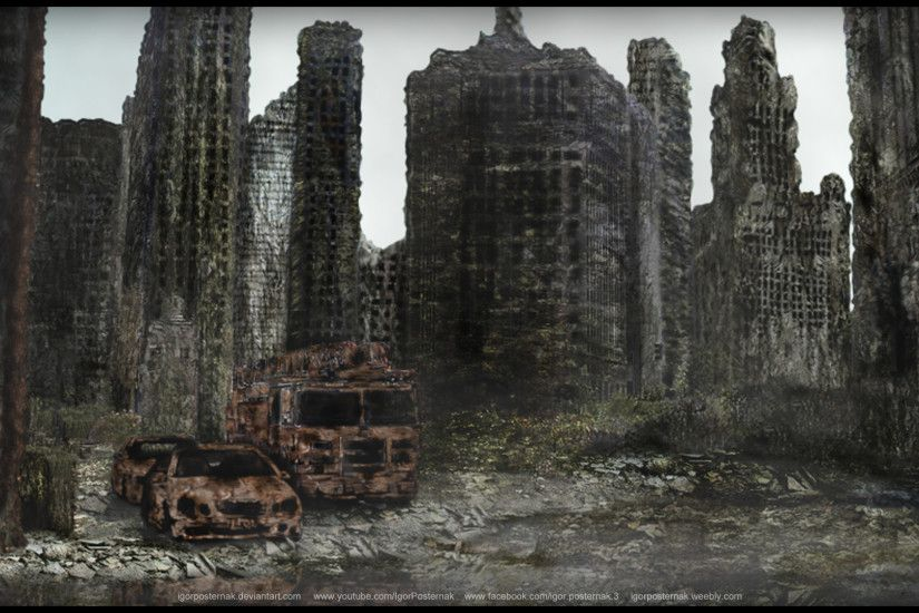 City Destruction Future Wreck Digital Art 1920x1080 hdw.eweb4.com