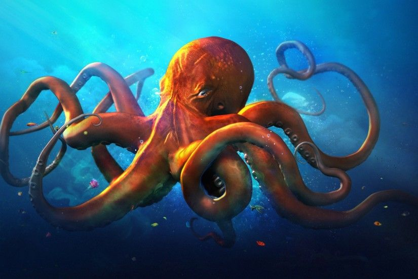 Octopus wallpaper art - photo#1