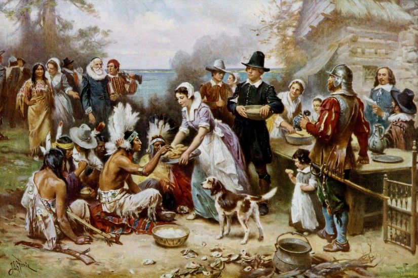 Wallpaper Of The Day: The First Thanksgiving