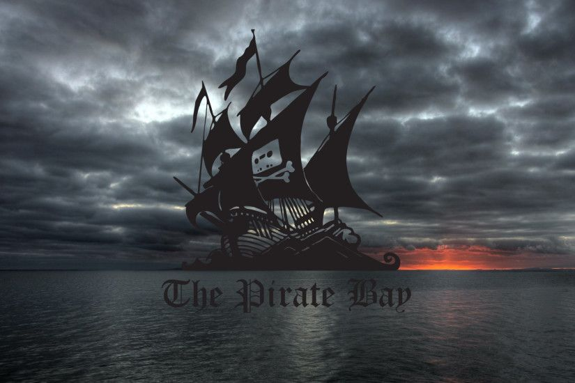General 1920x1080 The Pirate Bay piracy HDR BitTorrent logo sky clouds  typography