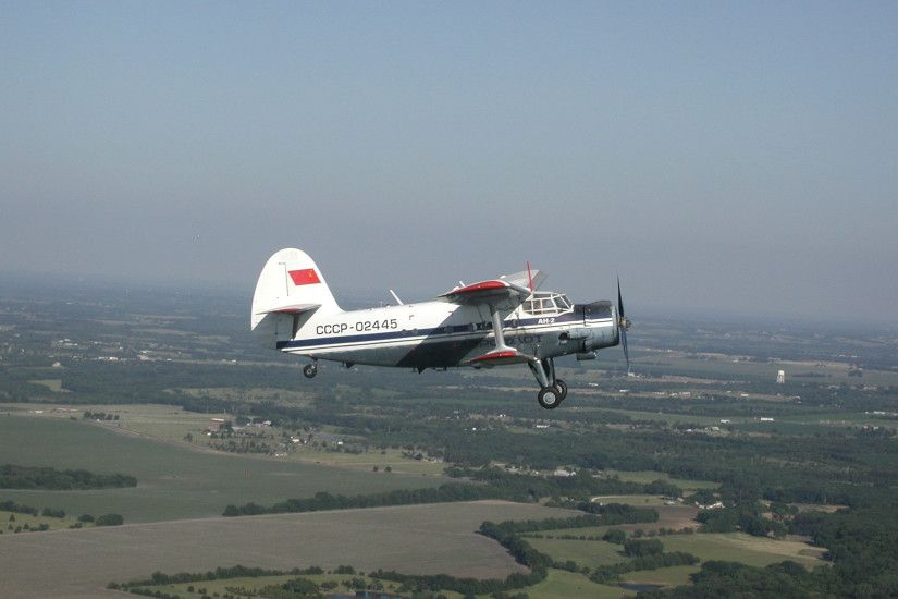 Jim Wolcott in his AN-2.