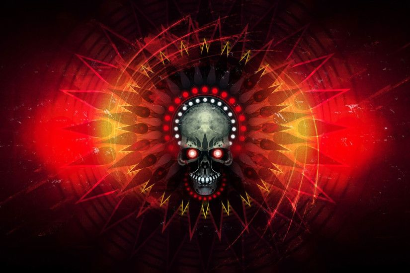 hd pics photos attractive skull danger red eye neon red abstract hd quality  desktop background wallpaper