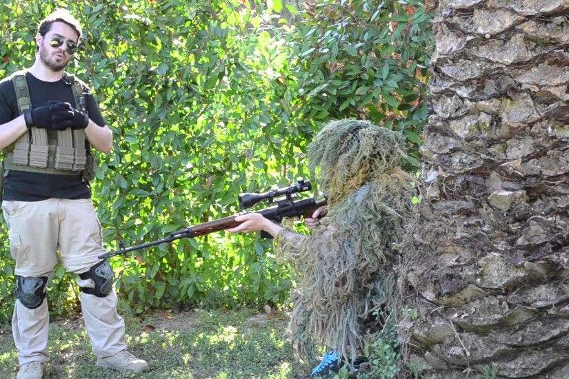 [Sniper Area] Le Ghillie Suit - SOG Softair ITALIA - YouTube