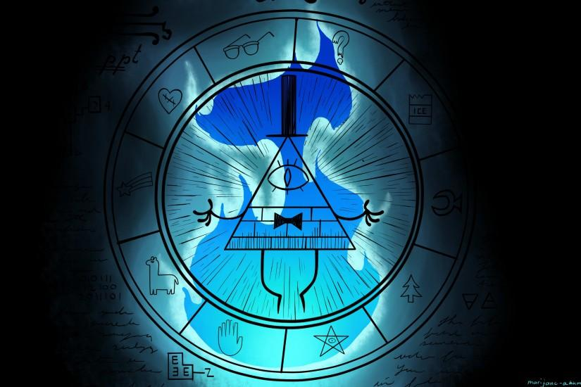 large bill cipher wallpaper 3840x2160