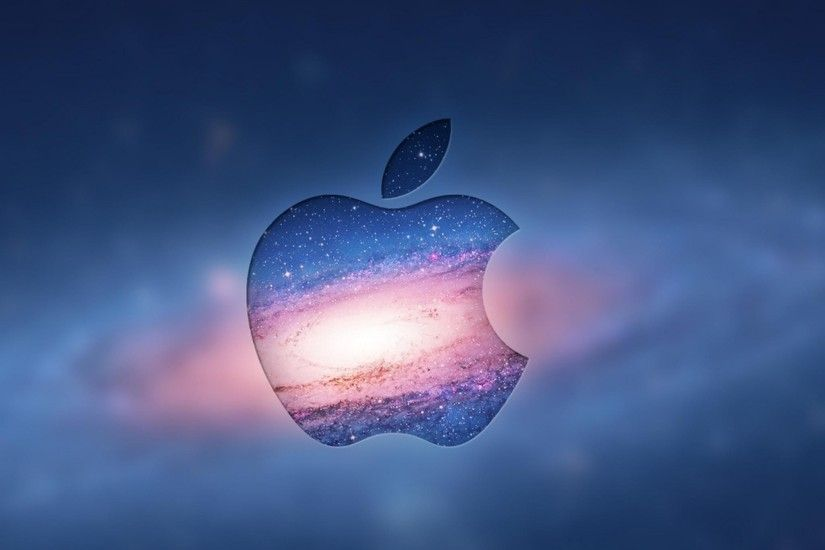 Apple Logo Over Andromeda Galaxy iPad Wallpaper HD
