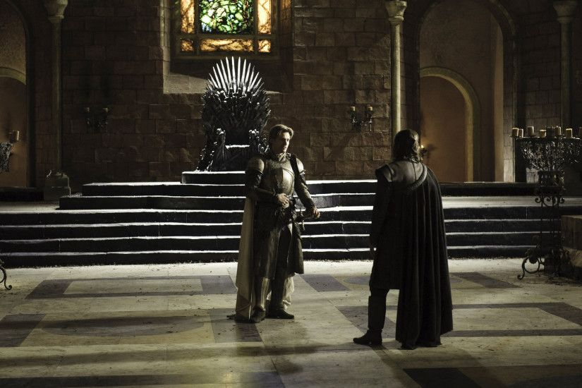 The Kingslayer talks about the king he killed with Lord Eddard, in the very  room