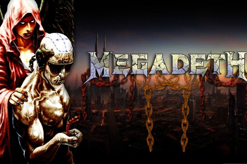 Megadeth Bands Groups Heavy Metal Thrash Hard Rock Album Covers Vic  Rattlehead Skulls Widescreen Resolutions wallpaper
