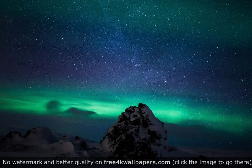 Northern Lights Iceland Aurora Borealis HD wallpaper