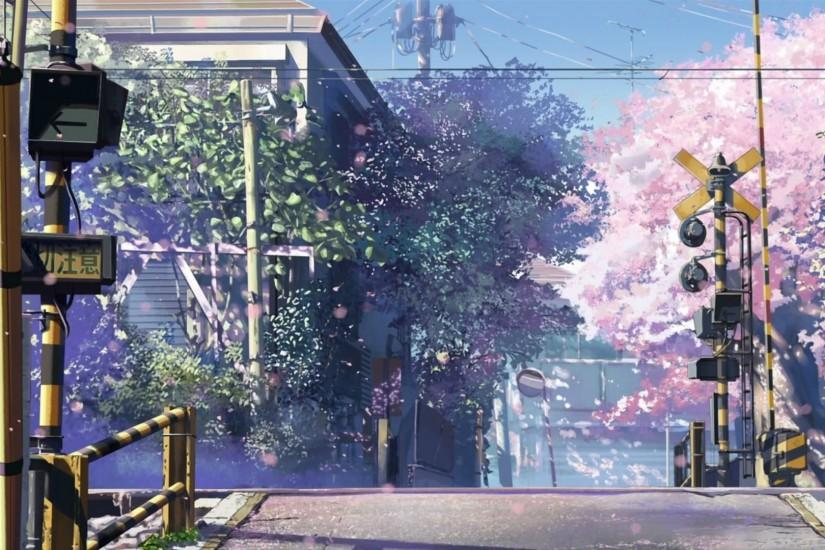 Anime City Scenery Wallpaper Wide with High Definition Wallpaper 1920x1080  px 413.66 KB