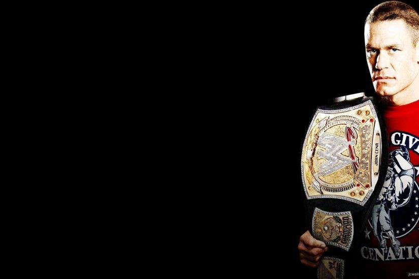 jhon cena with title belt wallpaper