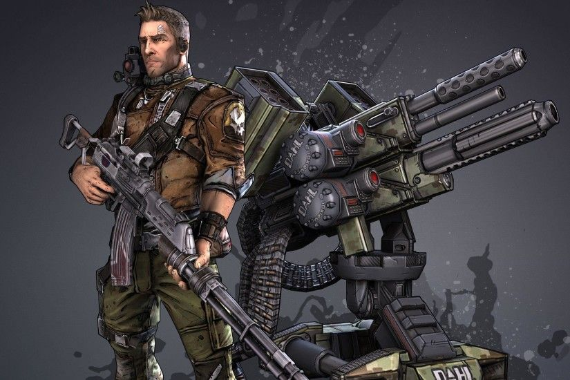 Soldier Axton in Borderlands 2 HD Wide Wallpaper - 2560x1600 .