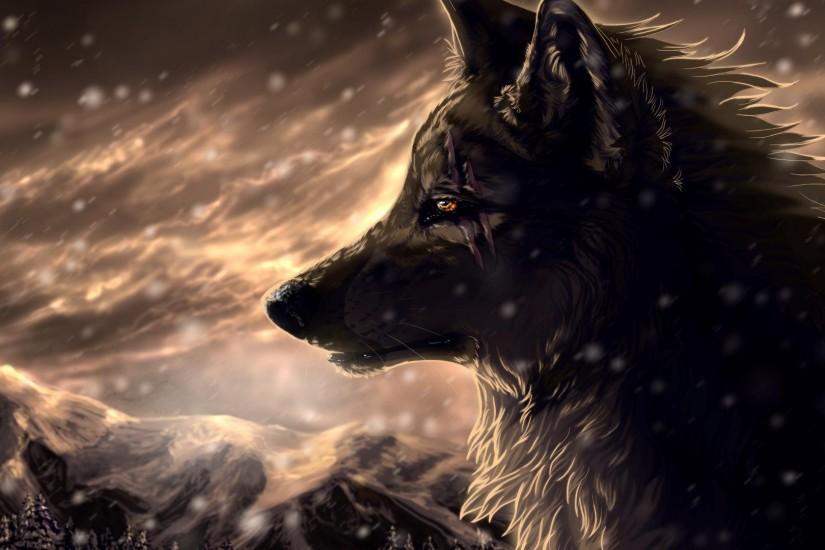 Magic Wolf HD Desktop Wallpaper High Definition Fullscreen
