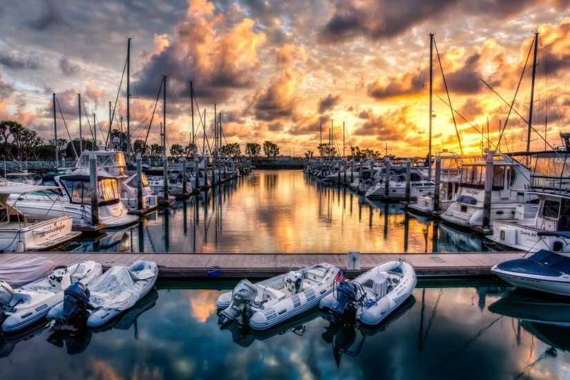 Marina Sunset HD Wallpaper 51428