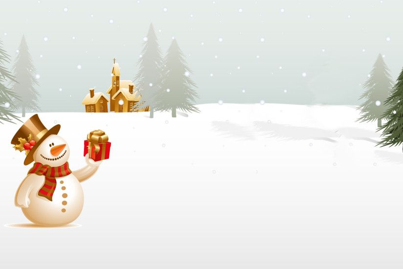 winter, snowman, tree, christmas, holiday ppt background #1053