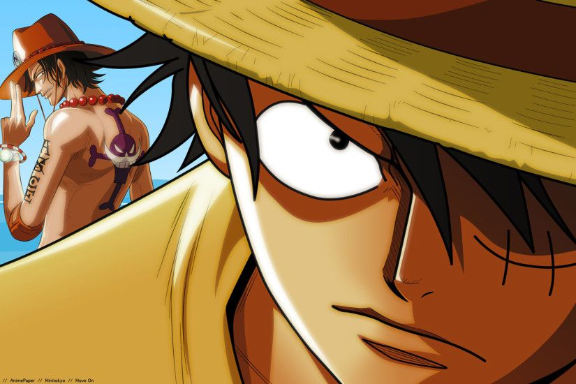 One Piece Wallpaper Luffy and Ace | Anime Wallpaper