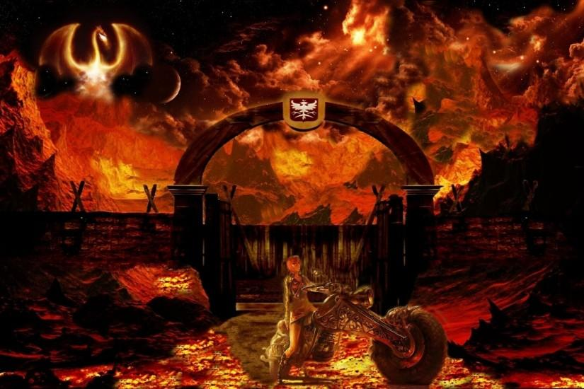 download hell background 1920x1200 for ipad