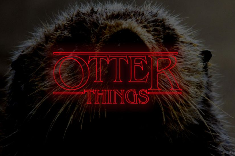 Otter Things Wallpaper