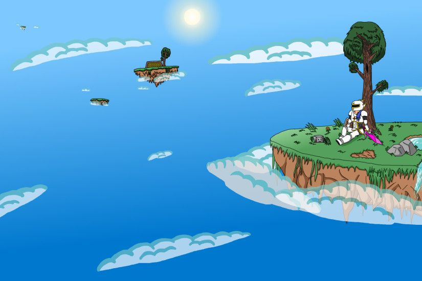 Terraria Wallpaper: Floating Islands by ppowersteef Terraria Wallpaper: Floating  Islands by ppowersteef