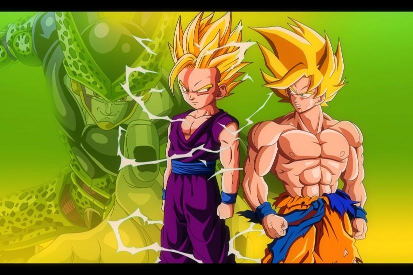 Goku and Gohan vs Cell - DBZ Wallpaper 1920*1080 by Oirigns on .