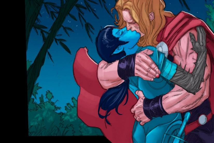 Thor kisses Lady Waziria (1920x1080) wallpaper