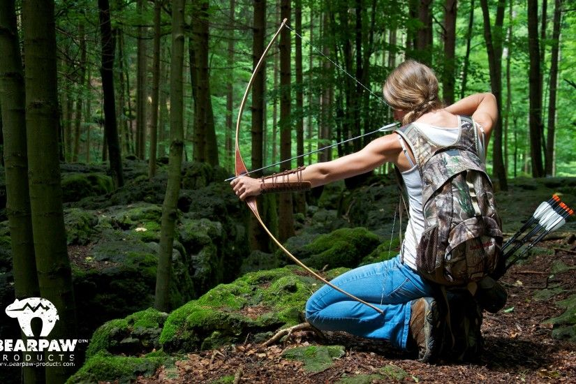 Archery Girl Outdoor Bearpaw Products Wallpaper .