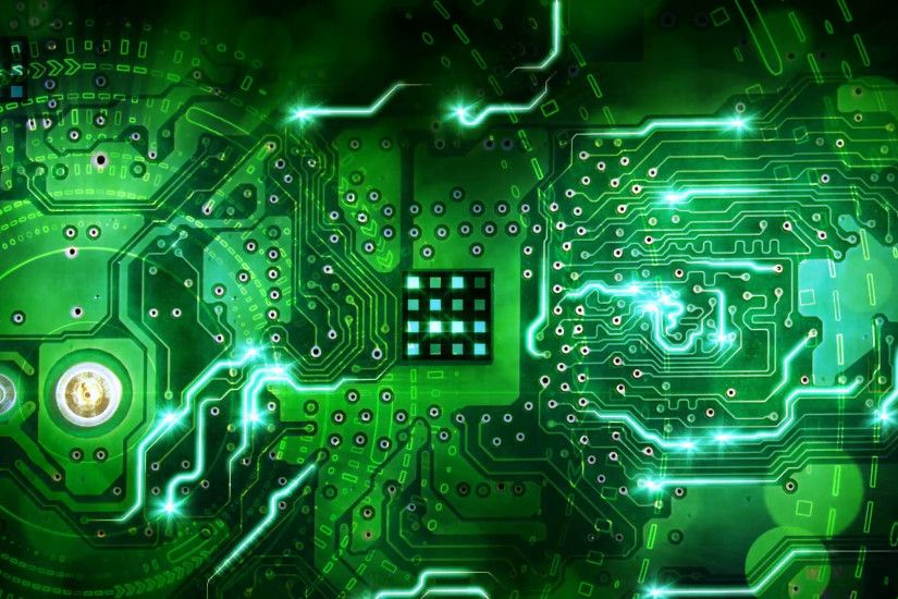 green computer circuit board background loop Motion Background - VideoBlocks