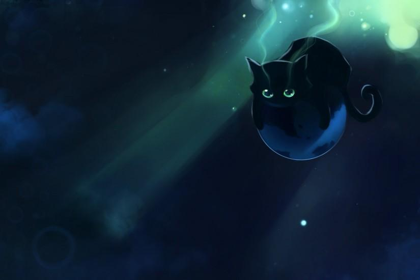 1708-1920x1080-apofiss-solo-lying-highres-black+hair- · Painting  WallpaperCat ...