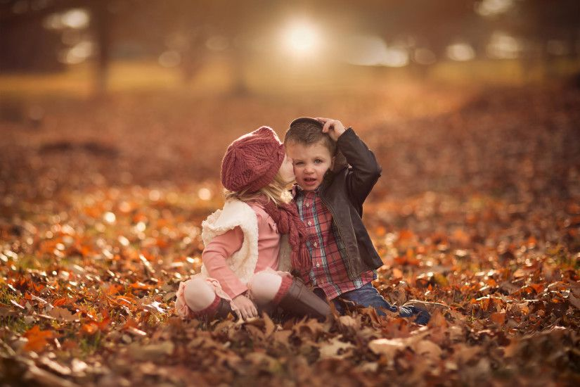 Cute Baby Boy Autumn Leaves wallpapers (48 Wallpapers)