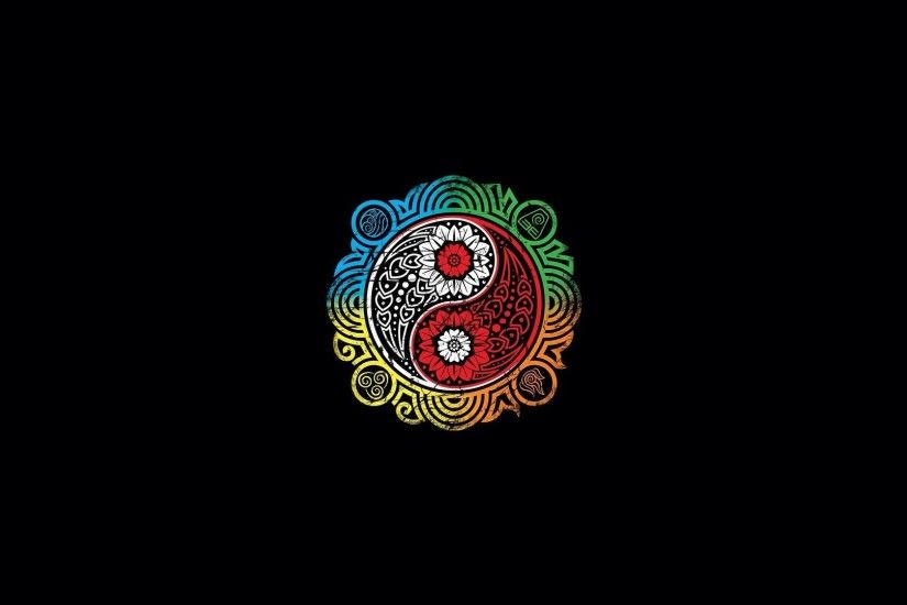 Religious - Yin & Yang Colors Wallpaper