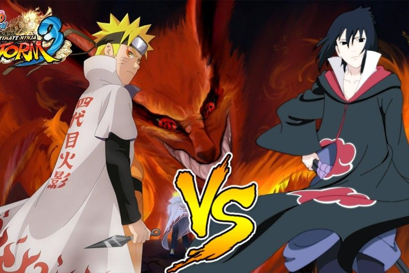 Hokage Naruto Vs Akatsuki Sasuke (Six tail form & Amaterasu) - Naruto  Ultimate Ninja Storm 3 - YouTube