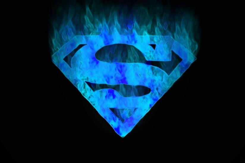 Blue Superman Logo Wallpaper