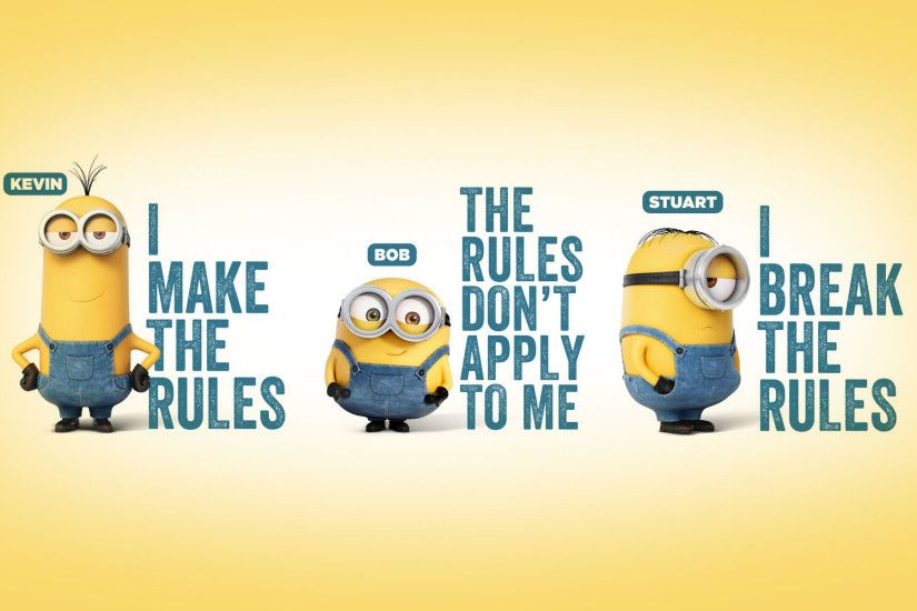 Despicable Me 3 New Minions Typography Wallpaper Wallpaper