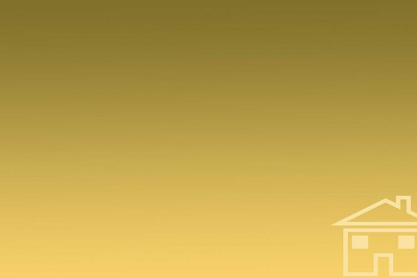 Gold Brown Gradient Background, Small Cartoon House