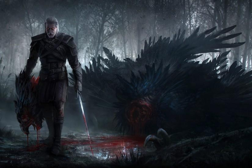 The Witcher, The Witcher 3: Wild Hunt, Geralt Of Rivia, Artwork, Fantasy  Art, Video Games Wallpaper HD