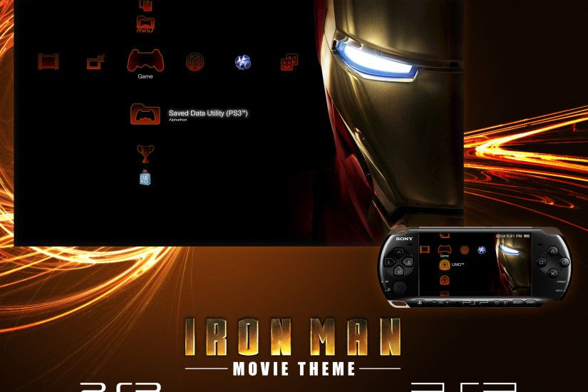 ... Iron Man Theme for PS3 and PSP by Alphathon