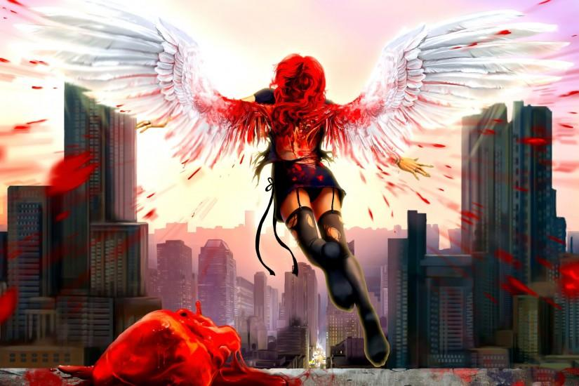 Bloody Anime Angel | Bloody Angel HD wallpapers