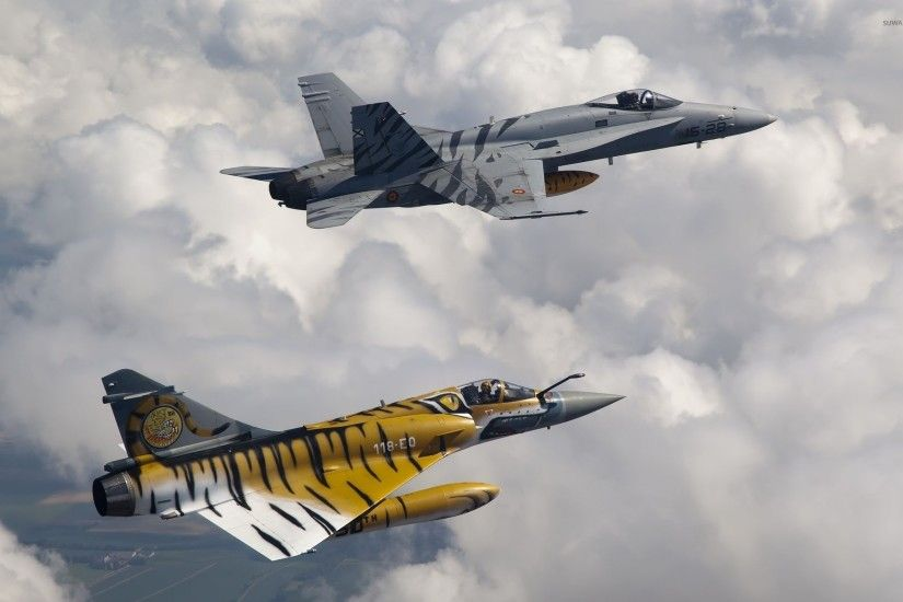 F-18 and Mirage wallpaper