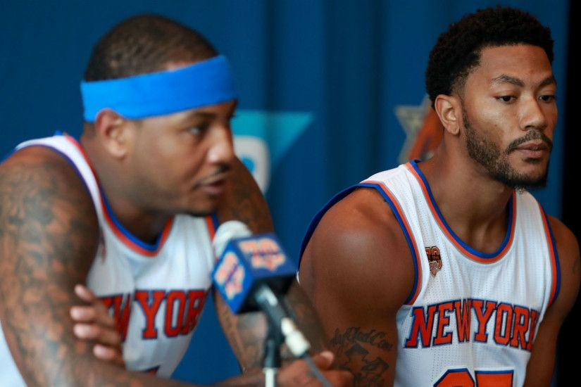 As Carmelo Anthony ages, disappearing Derrick Rose joins a long list of  failed Knicks teammates | NBA | Sporting News