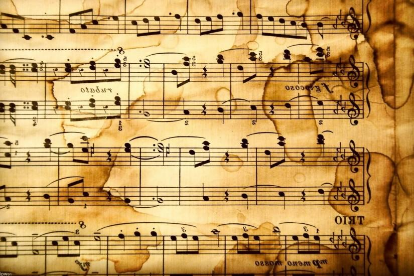 Rustic HD Music Notes Wallpaper
