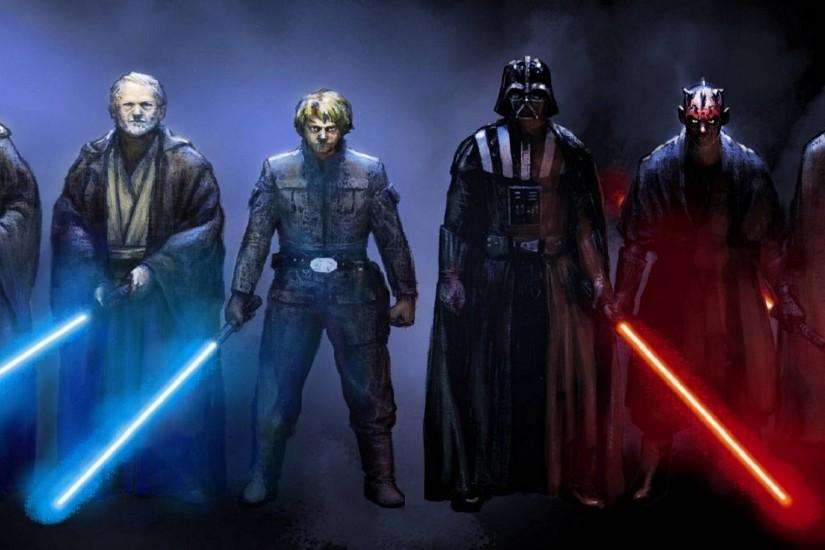 multiple Display, Star Wars, Darth Vader, Yoda, Obi Wan Kenobi, Luke  Skywalker, Emperor Palpatine Wallpaper HD