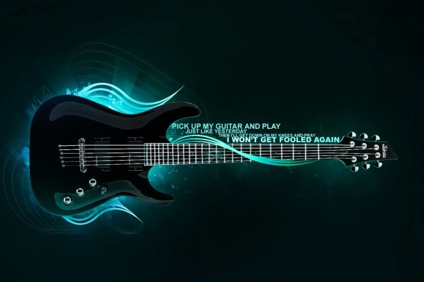 3D Guitar Wallpapers